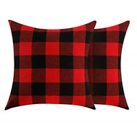 Volcanics Buffalo Check Plaid Throw Pillow Covers Set of 2 Farmhouse Decorative