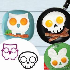 Funny Side Up Owl and Skull Egg Shaper
