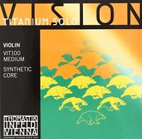 Thomastik-Infeld VIT100 Vision Titanium Solo Violin Strings, Complete Set,...