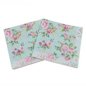 20Xscolor stampa tovaglioli di carta rosa festa floreale del tessuto decorazi_cd