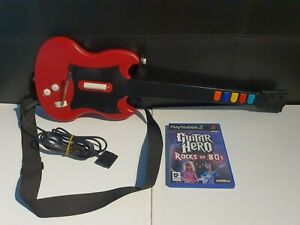 PS2 Guitar Hero Wired Controller Red Octane PSLGH Gibson Rare - Working VGC