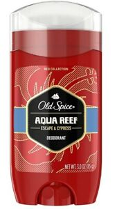 Old Spice AQUA REEF Deodorant Stick 3.0 oz Red Zone Aluminum Free Lime n Cypress