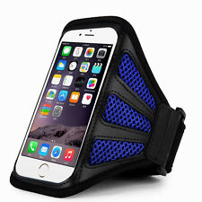 "iPhone 6 Plus 5.5"" Blue Mesh Running, Jogging, Cycling Armband Mobile Phone Cove"