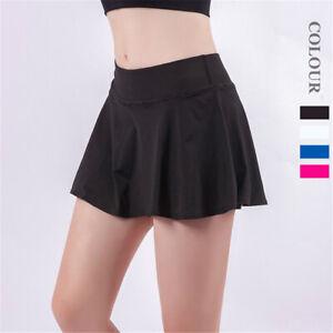 Women's Gym Sports Tennis Skirt Jogging Lightweight Running Layered Shorts Pants