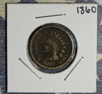 1860 INDIAN HEAD CENT COLLECTOR COIN, FREE SHIPPING
