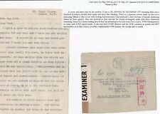# 1943 STRATFORD LONDON UK & JAPANESE CENSORS >BRITISH POW JAVA CAMP WITH LETTER