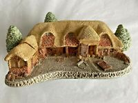 VTG David Winter Cottages TYTHE BARN Sculpture Britain Thatched Roof Door Off