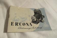 Anleitung Ercona  Zeiss Ikon , 40 Seiten ,1952