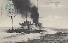 1906 Rare French Navy Armoured Cruiser L'AMIRAL-Tréhouart Stamped Postcard