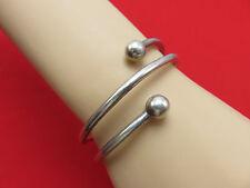 Mexico Vintage Bracelet Sterling Silver Bangle Cuff Spiral Modernist 584g