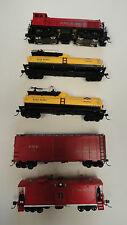Custom HO JBA 1007 five piece custom fire train w/brass S2 loco w/DCC.