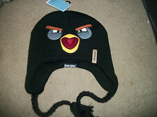 Angry Black Birds   Hat Cap NWT Stocking beanie Skull reversible OSFM Adult