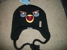 Angry Black Birds   Hat Cap NWT Stocking beanie Skull reversible OSFM Adult