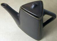 Art Deco Style Triangular TEAPOT Tea Pot Triangle Brown Stoneware by Designpac