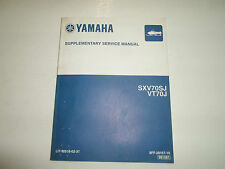2004 Yamaha SXV70SJ VT70J Supplementary Service Manual FACTORY OEM BOOK 04 SUPP