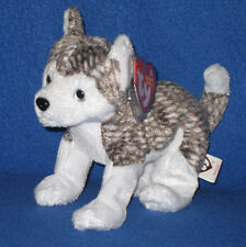 TY MUKLUK the HUSKY DOG BEANIE BABY - SILVER EYES - MINT TAGS