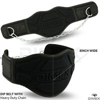 "Dipping Belt Body Building Weight Lifting Dip 8"" Chain Exercise Gym Training"