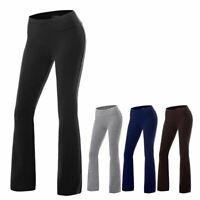 Bootcut  Yoga Pants Women Casual Sports Gym High Waist Stretch Boot Cut Trousers