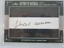 2012 LEAF CUT SIGNATURE HISTORY OF BASEBALL HANK AARON AUTO AUTOGRAPH ATLANTA