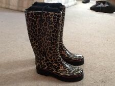 Lovely Atmosphere Leopard Print Wellington Boots Size 3