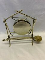 Vintage Silver Plated Small Dinner Gong
