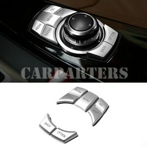 For BMW X5 X6 E70 E71 Inner Console iDrive Multimedia Button Cover 2010-2014