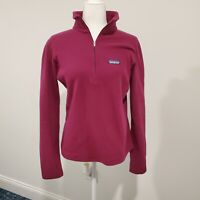 Patagonia Women's Half Zip Fleece Sweater Pullover Medium M Maroon Wine
