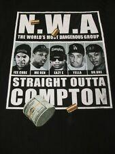 VINTAGE N.W.A. NWA WORLD'S MOST DANGEROUS GROUP COMPTON BLACK XL T-SHIRT D1234