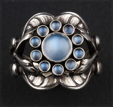Georg Jensen Sterling Silver Ring # 10 with Moonstone. Design: GJ himself.