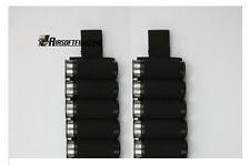 2X Tactical Black Shotgun 5 Shell Ammo Pouch Holder Card CQB Loop Reload A