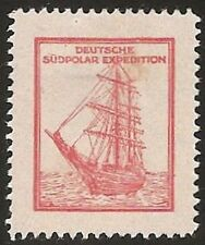 S827) Vignetta Tedesco Südpolar Spedizione con Abb. Südpolarschiff Germania