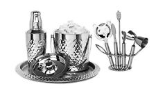 Cocktail Shaker Home Bar Set with Pineapple Design, 9 Piece set