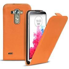 Flip Case LG G3 Case PU Leather Flip Case Phone Case Cover Orange