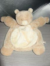 doudou marionnette ours marron beige noukie's état neuf