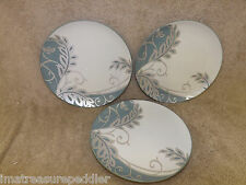 """Noritake Colorwave Green 3 Plume Plates  8-1/4"""" New with Tags"""
