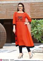 Indian Pakistani Kurti Readymade Bollywood Apparel Design Work Apparel Top Tees