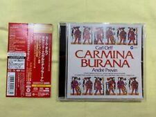 Orff Carmina Burana Previn EMI Japan 2016 Super Audio SACD MINT!