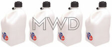 4 VP Racing White 5 Gallon Square Fuel Jug/Utility Water Container/Jerry Gas Can