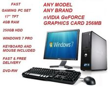 "CHEAP FAST GAMING PC SET INTEL CORE 2 DUO 4GB 250GB 17"" TFT KEYBOARD&MOUSE"