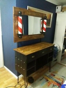 Rustic Barbers Station Inspired Dresser