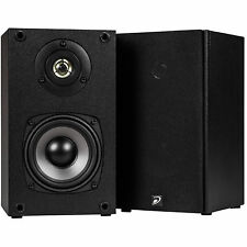 """NEW (2) 4.5"""" Bookshelf Audio Speakers.Wall Mount Pair Stereo Sound.Home Theater"""