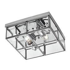 classique plafonnier 25cm chrome 2x40w Luminaire suspendu carré verre