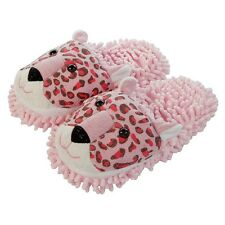Aroma Home Fuzzy Friends Cosy Ladies Fun Pink Leopard 3D Novelty Slippers