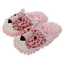 Aroma Home Fuzzy amigos acogedor Diversión De Las Señoras Zapatillas Pink Leopard 3D Novedad