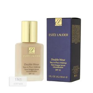 BNIB Estee Lauder Double Wear Stay-in-Place Makeup SPF 10 30ml 1N1 IVORY NUDE.