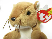 "Ty Beanie Baby  ""Nuts"" ADORABLE Squirrel, Brand New *PRISTINE* MINT, Mint Tags"