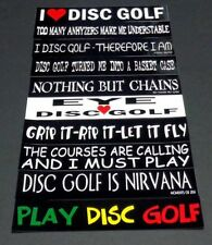 """*New-10 Disc Golf Stickers. 8.5"""" x 1.5"""" Very High Quality*"""