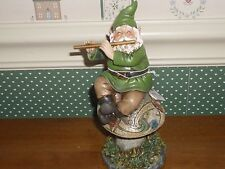 "Roman-Joseph'S Studio-7"" H Celtic Garden Statue-Gnome Playing Flute-New"