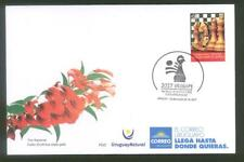 2017 WORLD YOUTH CHESS CHAMPIONSHIP URUGUAY STAMP FDC COVER HORSE BOARD GAME