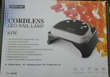 32LED 64W Nail Lamp Gel Polish Nail Dryer. Cordless ,Wireless, & Rechargeable.